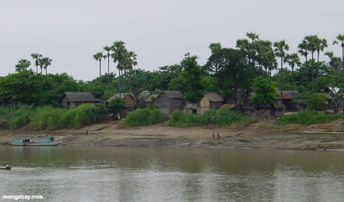 A riverside village in Myanmar. Photo by Rhett A. Butler.