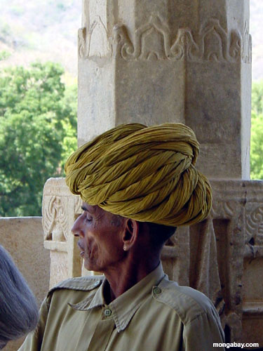 Man with yellow turban (India)